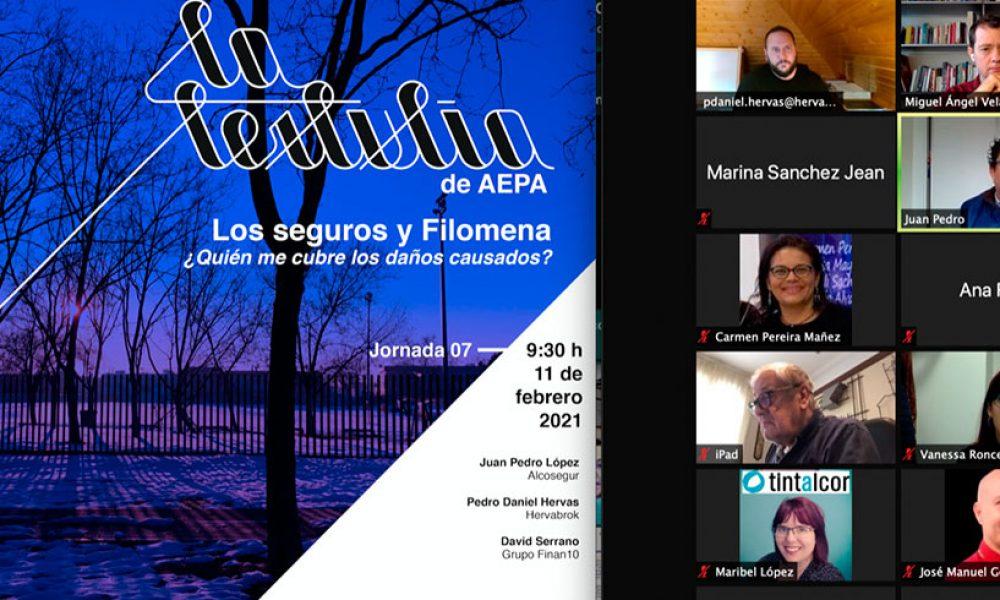 Vídeo: La Tertulia de AEPA – Jornada 7 – Los seguros y Filomena ¿Quién me cubre los daños causados?