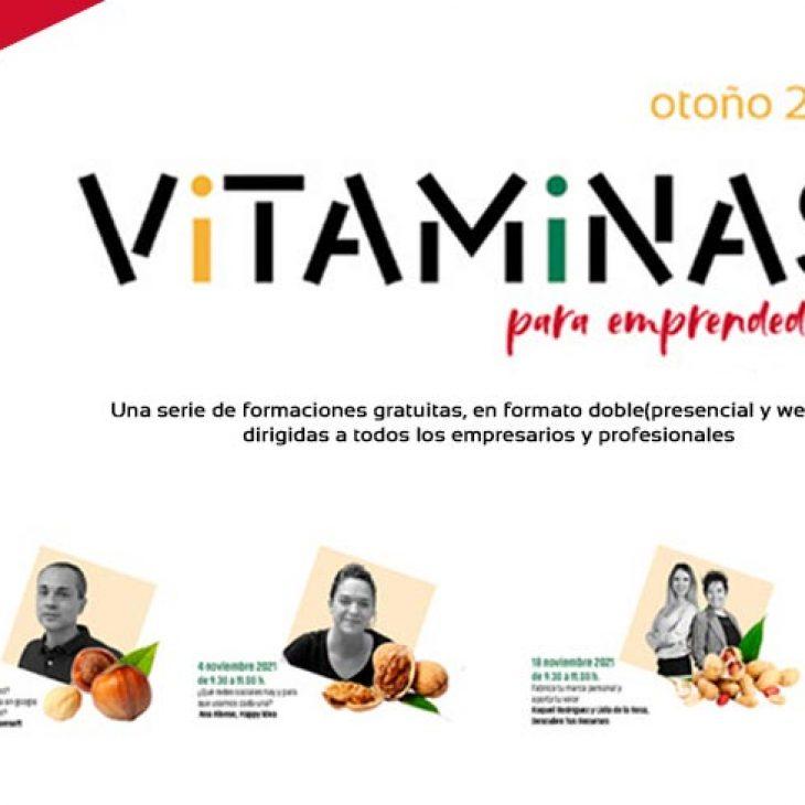 Vitaminas para emprendedores, formaciones gratuitas en formato doble presencial y webinar